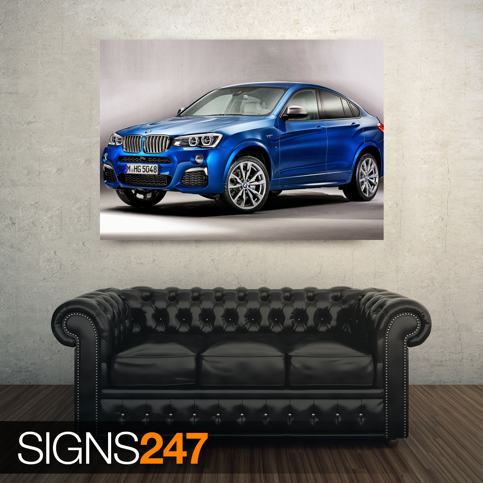 CAR POSTER AC552 BMW X4M BLUE Photo Picture Poster Print Art A0 A1 A2 A3 A4