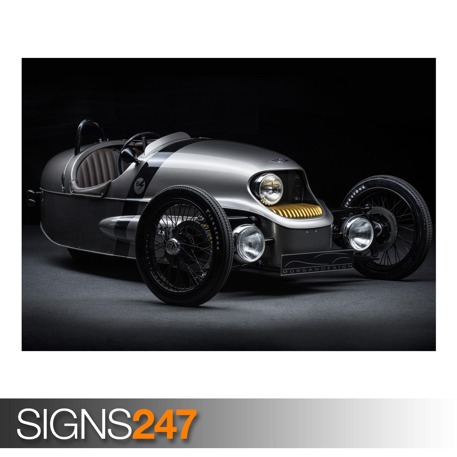 MORGAN-THREE-WHEELER-EV3-AD747-CAR-POSTER-Photo-Poster-Print-Art-All-Sizes
