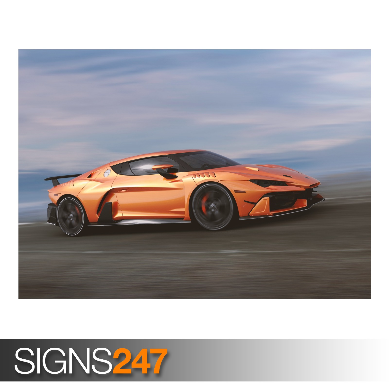 Photo Picture Poster Print Art A0 A1 A2 A3 A4 CAR POSTER AD755 FANTASY CAR