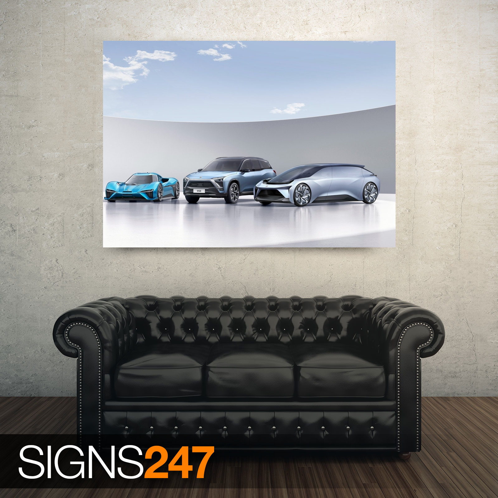 NEXTEV-NIO-ELECTRIC-CARS-AD748-CAR-POSTER-Photo-Poster-Print-Art-All-Sizes