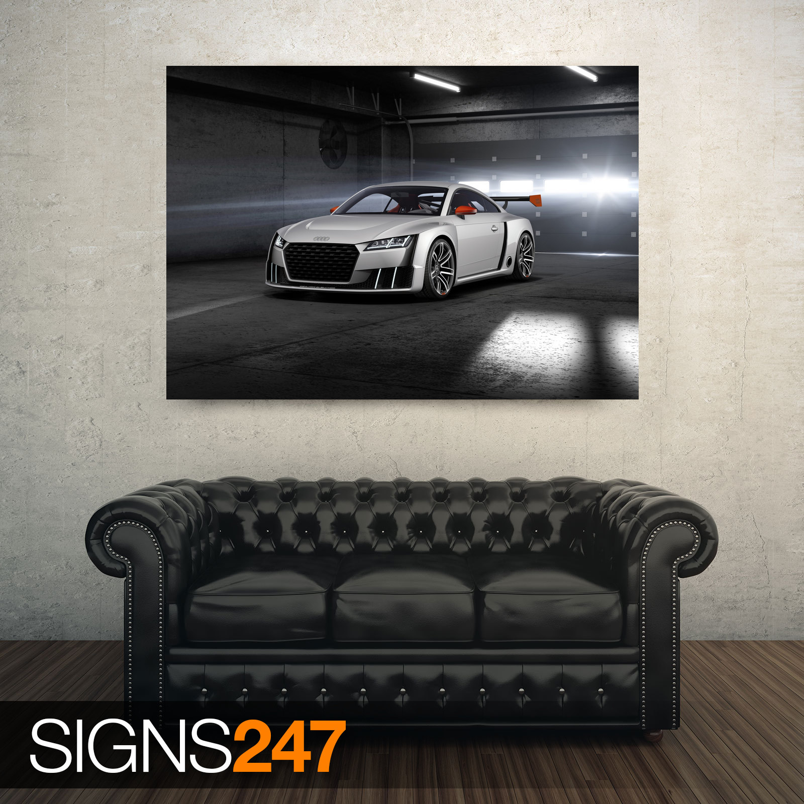 AUDI-TT-SPORTS-CAR-AD753-CAR-POSTER-Photo-Picture-Poster-Print-Art-A0-to-A4