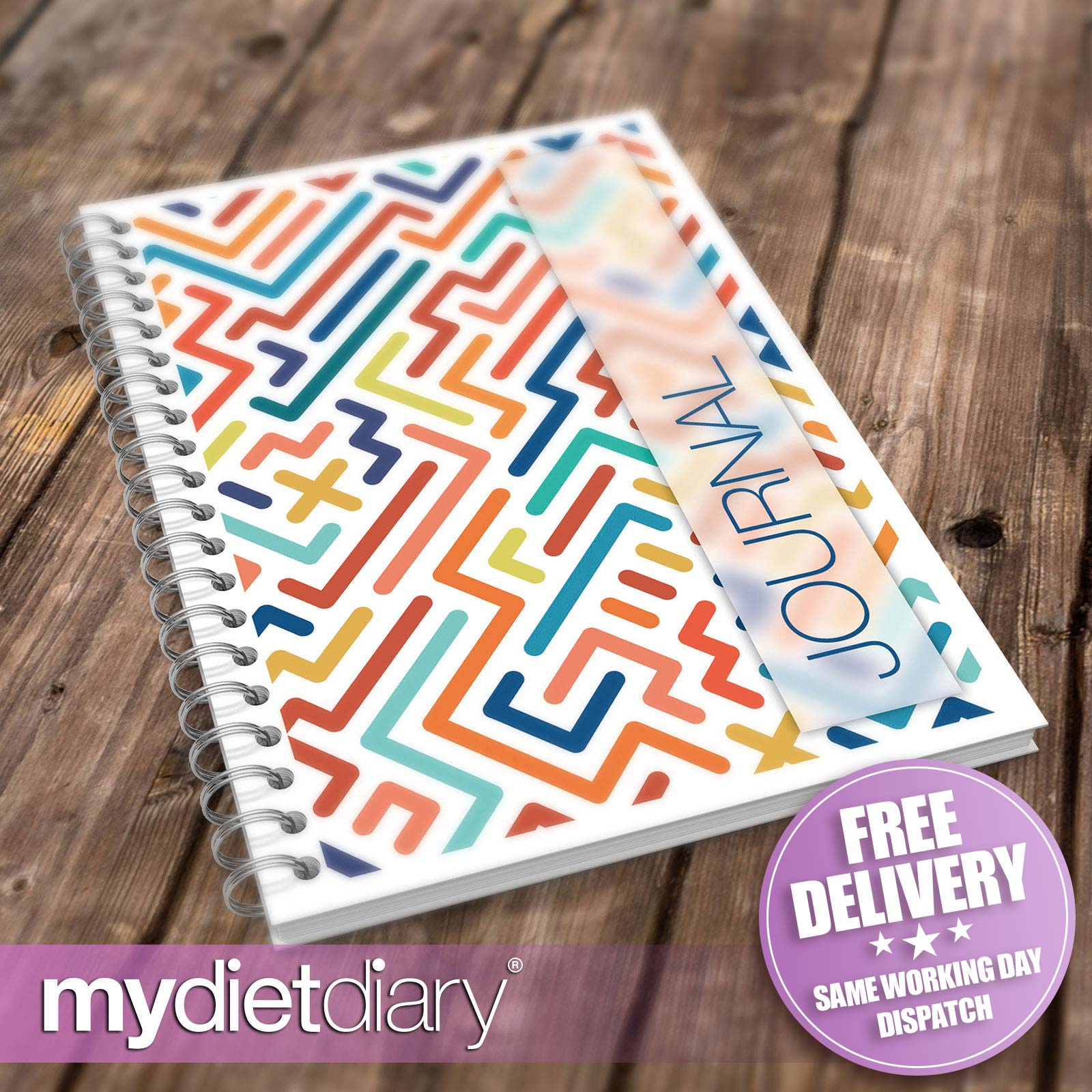 DIARY-WEIGHT-WATCHERS-COMPATIBLE-Maze-W030W-12wk-journal-notebook-slimming
