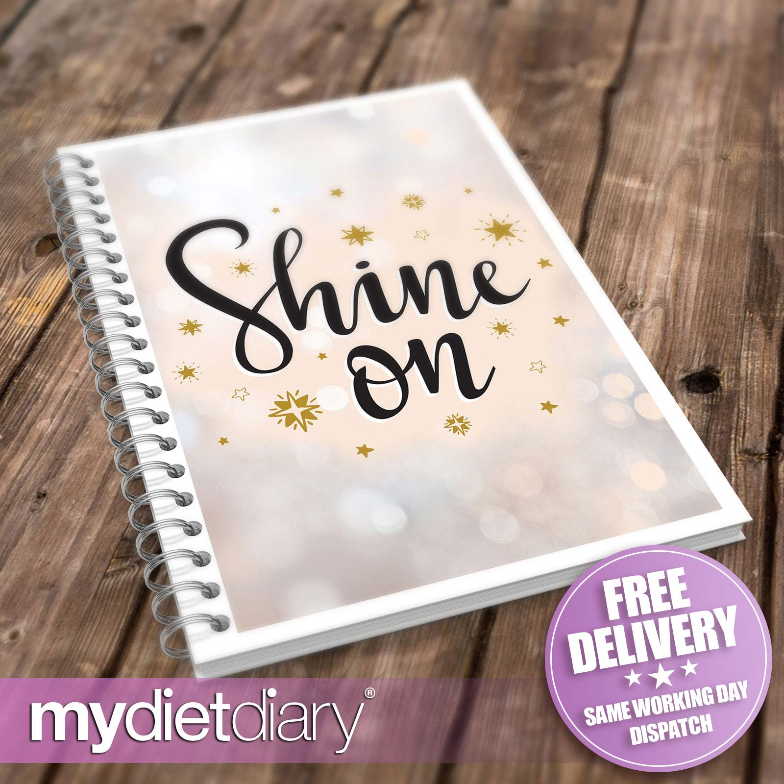 WEIGHT-LOSS-DIARY-Shine-On-G048W-12wk-journal-weight-loss-notebook-diary