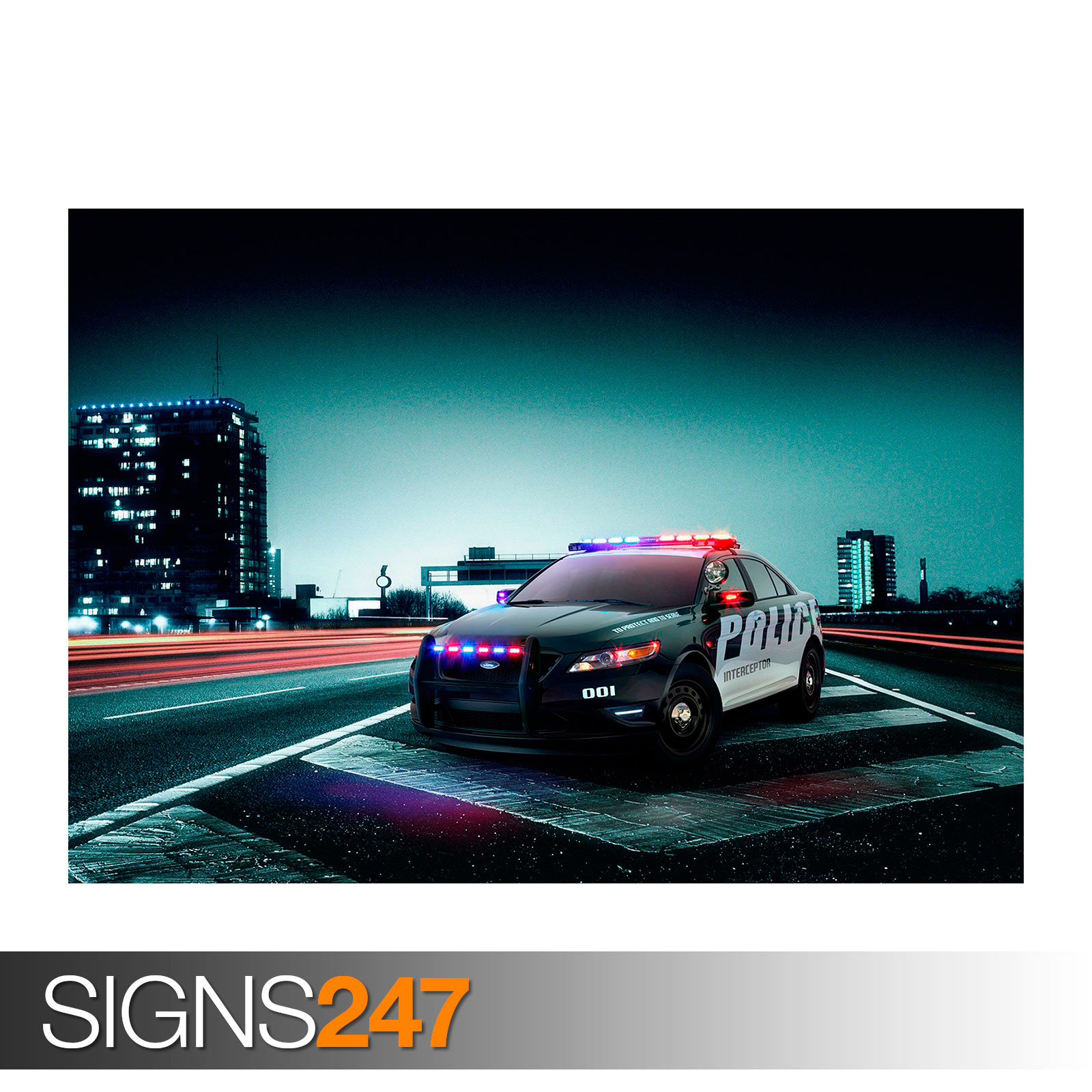 ford police interceptor 0448 voiture poster photo poster print art toutes les tailles ebay. Black Bedroom Furniture Sets. Home Design Ideas