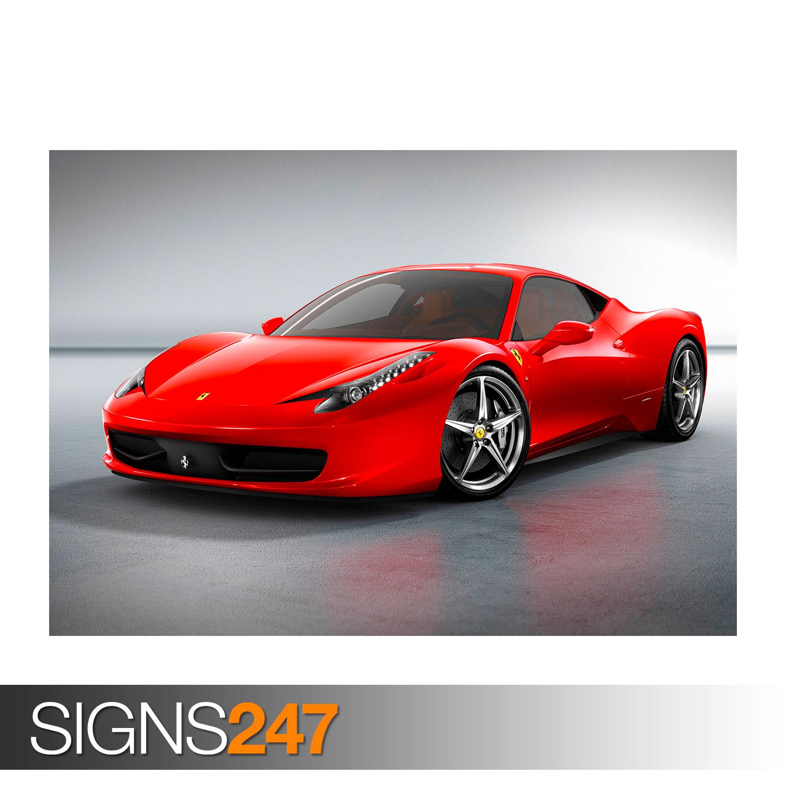 Car Poster Picture Poster Print Art A0 A1 A2 A3 A4 0816 FERRARI 458 ITALIA