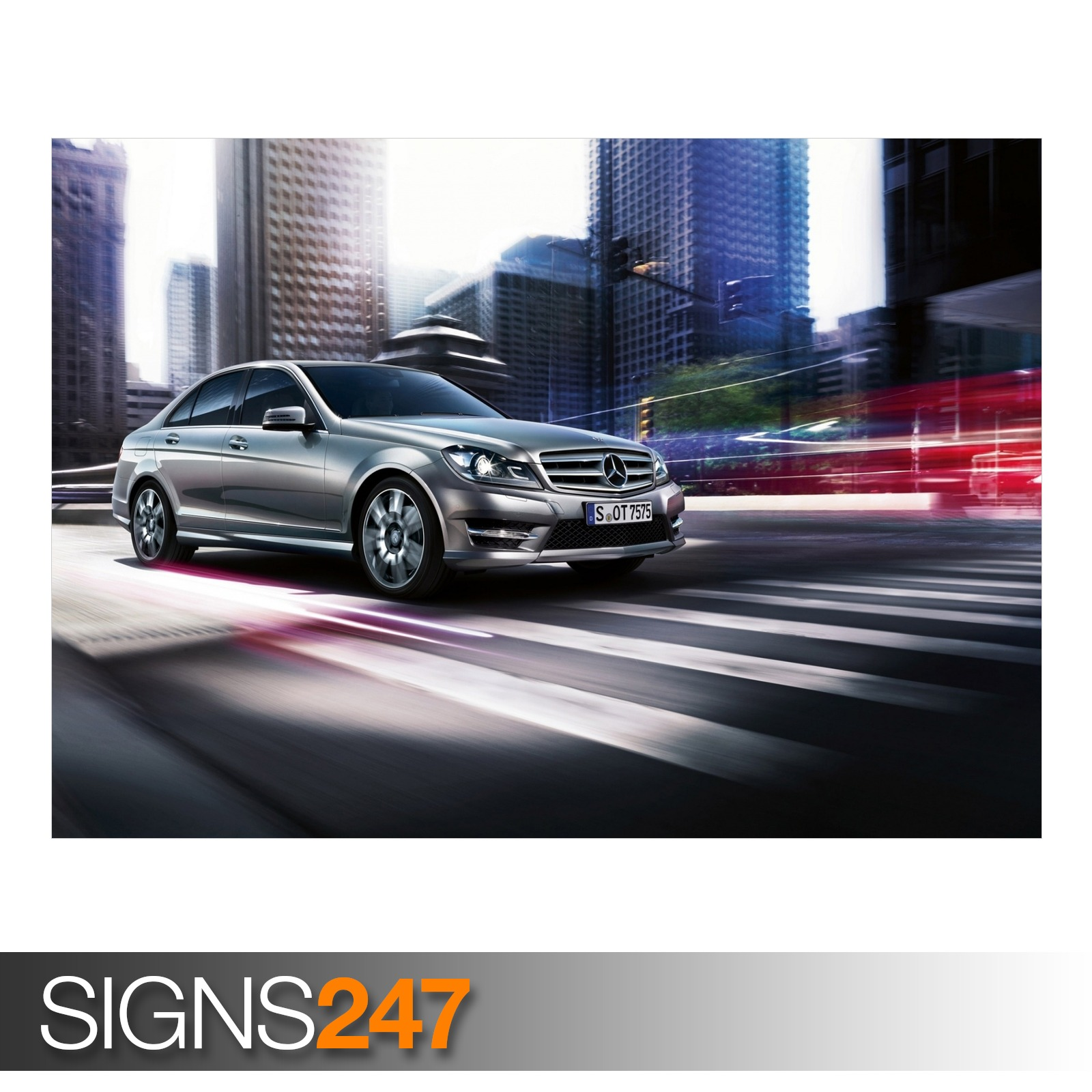 Mercedes benz c class aa748 car poster photo poster for Mercedes benz poster