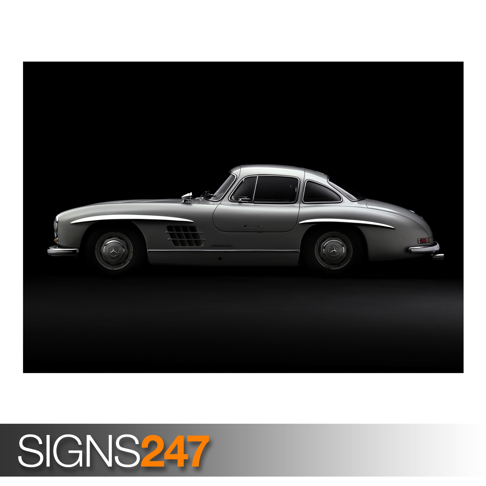 Mercedes benz 300sl gullwing aa913 classic car poster for Mercedes benz poster