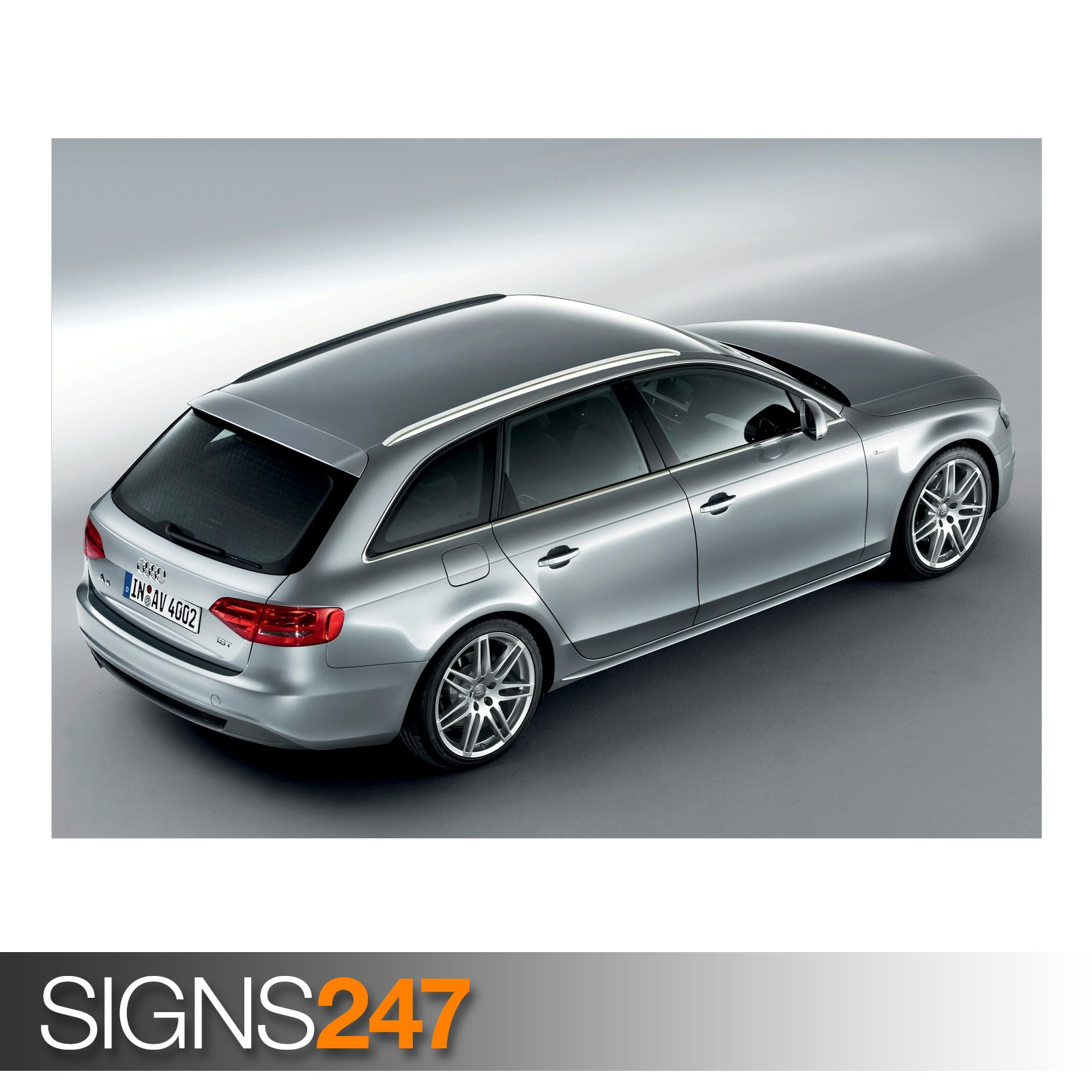 AUDI A4 1.8 TFSI S LINE AVANT (AB954) CAR POSTER