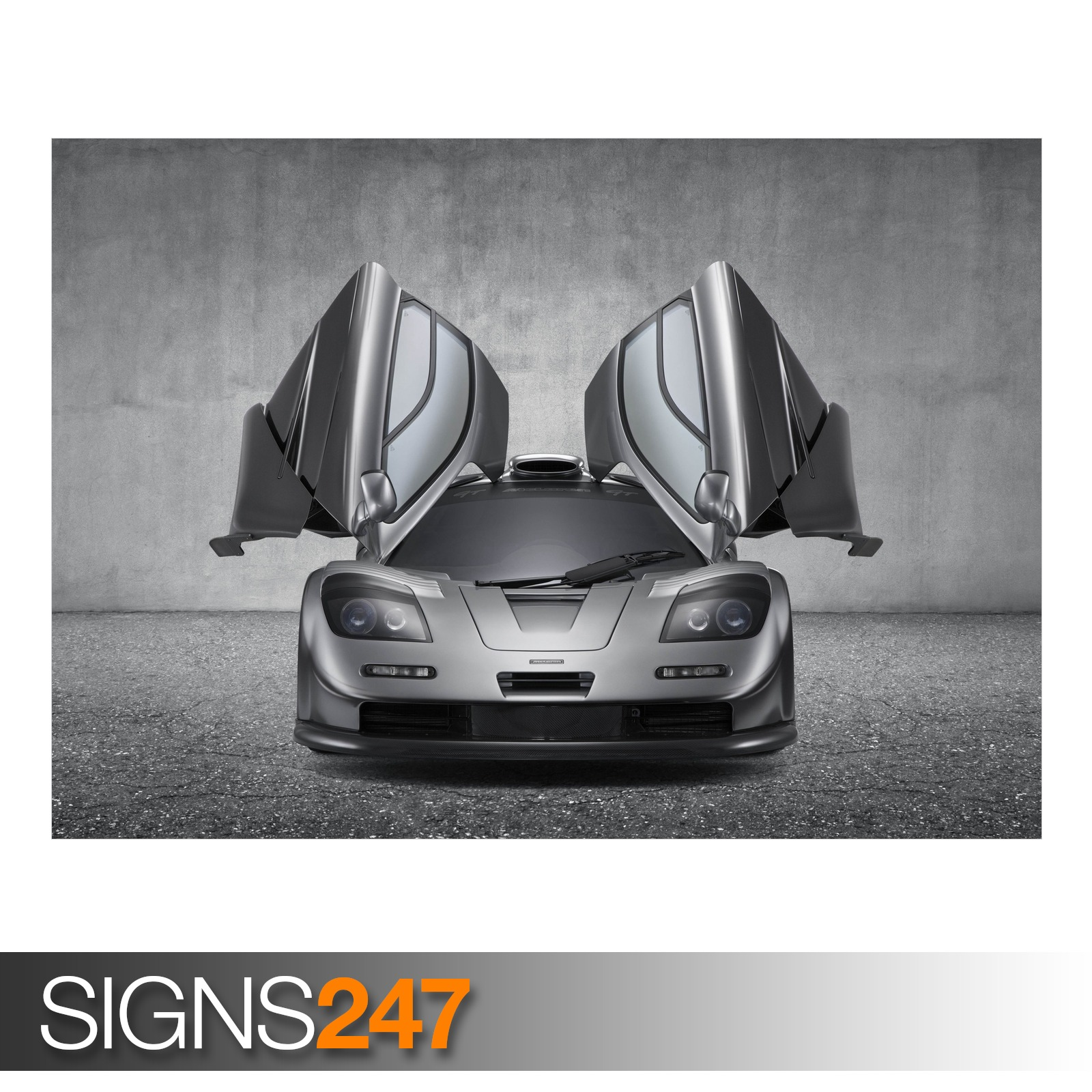 MCLAREN F1 GT SUPERCAR (AD746) CAR POSTER - Photo Poster Print Art * All Sizes