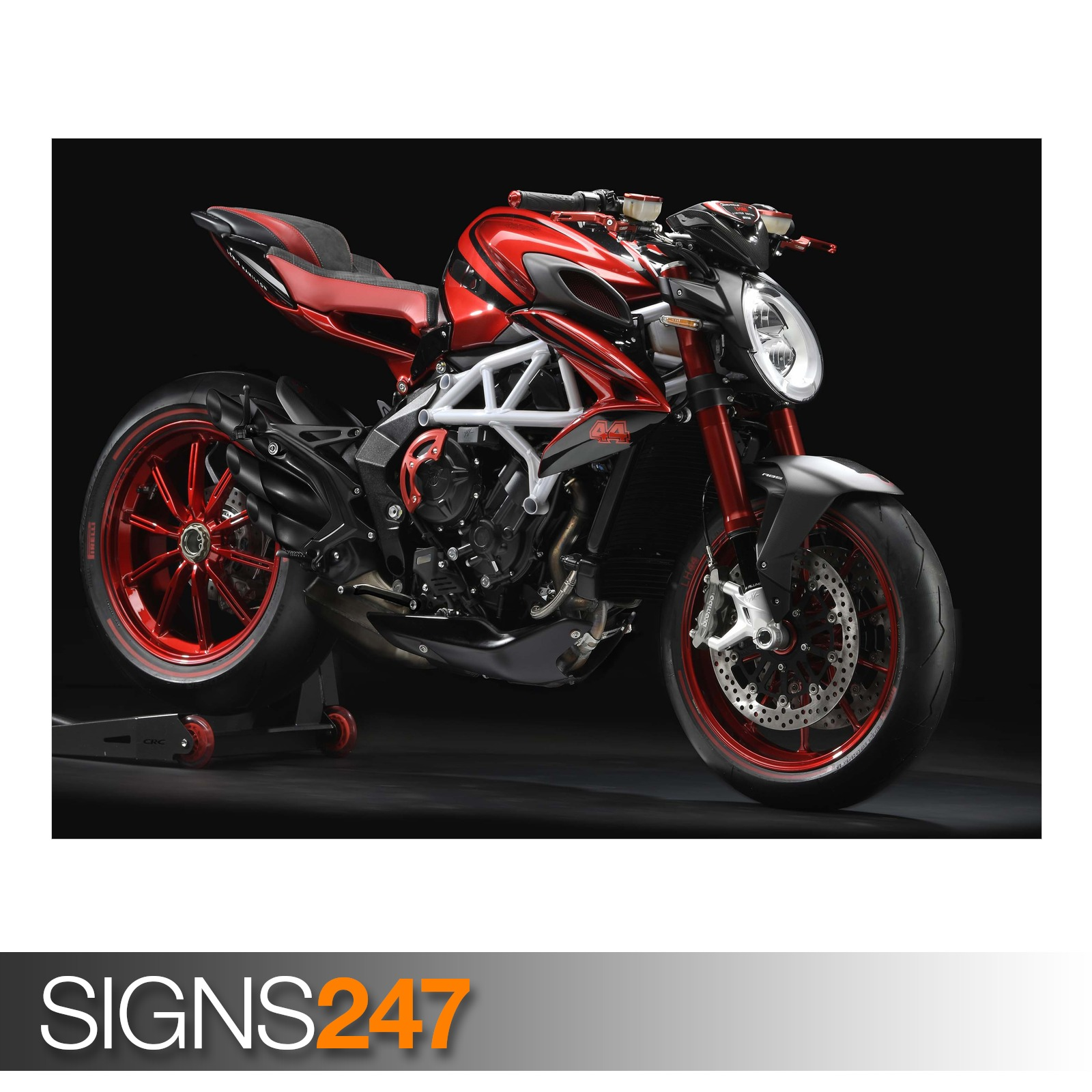 MV-AGUSTA-BRUTALE-800-RR-LH44-EDITION-ZZ016-MOTORBIKE-POSTER-Poster-Print