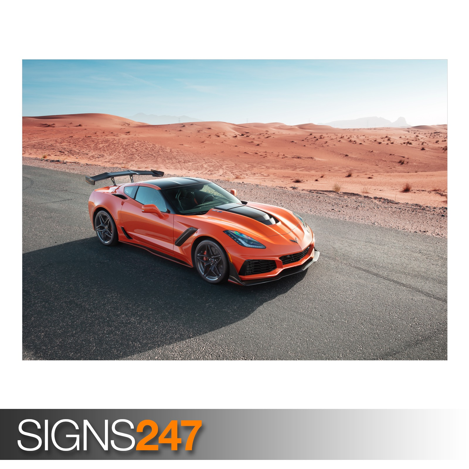 CHEVROLET-CORVETTE-ZR1-ZZ018-CAR-POSTER-Photo-Poster-Print-Art-All-Sizes