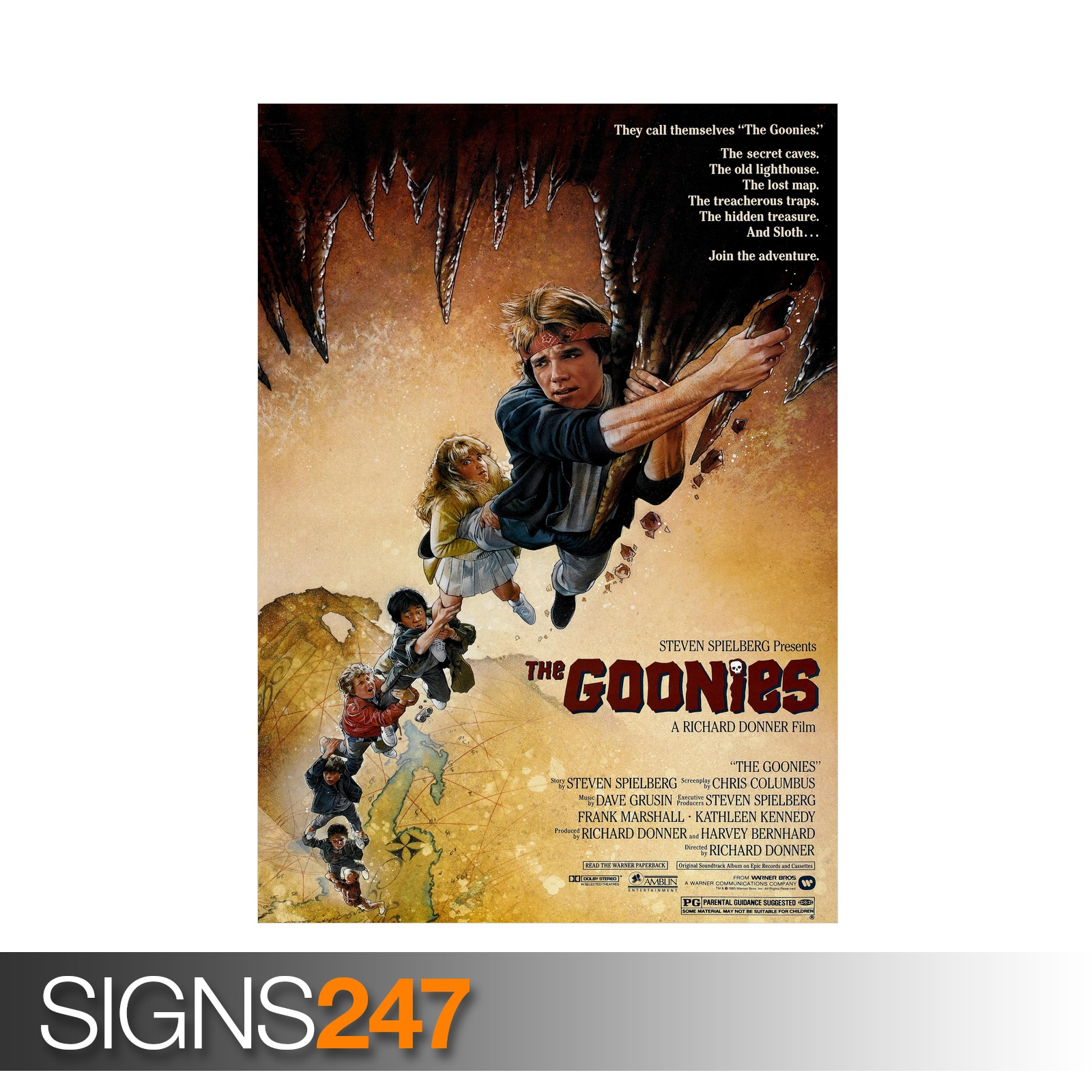 THE-GOONIES-ZZ028-MOVIE-POSTER-Photo-Picture-Poster-Print-Art-A0-to-A4