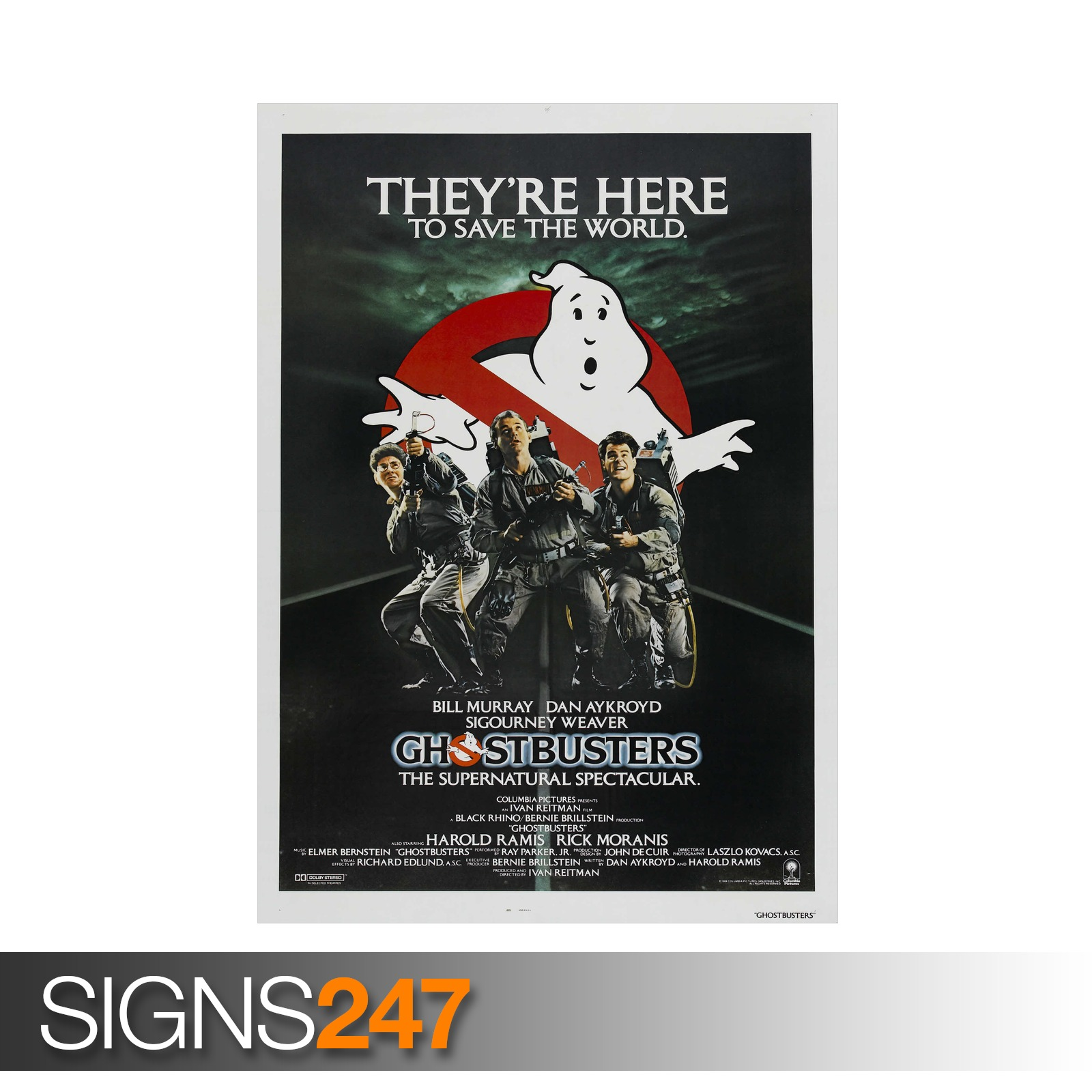 GHOSTBUSTERS-CLASSIC-80S-ZZ040-MOVIE-POSTER-Poster-Print-Art-A0-A1-A2-A3