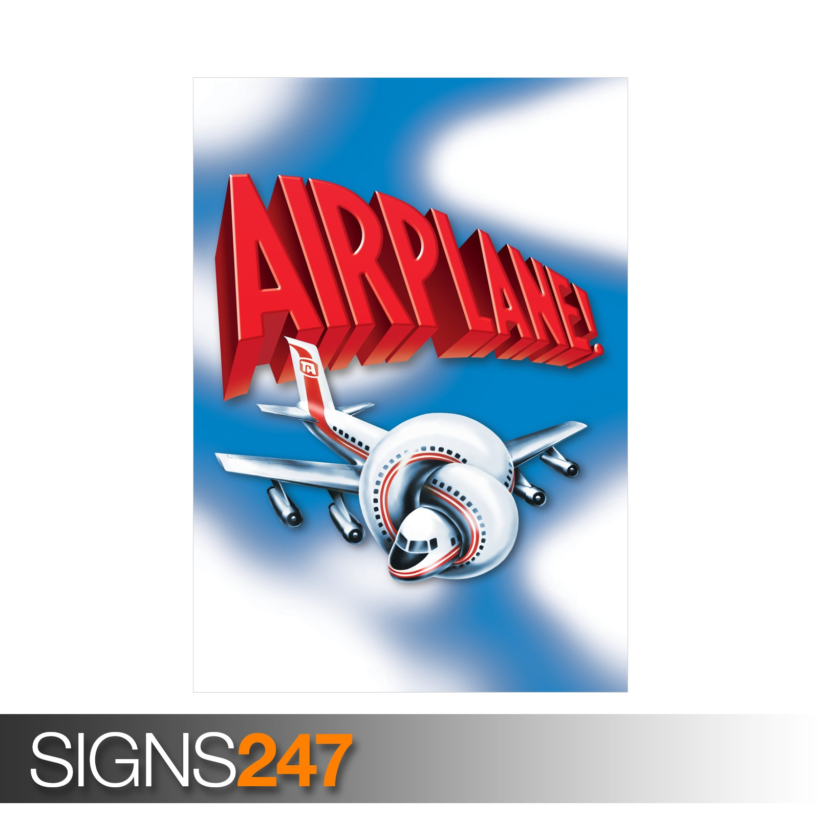 AIRPLANE-CLASSIC-80S-ZZ041-MOVIE-POSTER-Poster-Print-Art-A0-A1-A2-A3