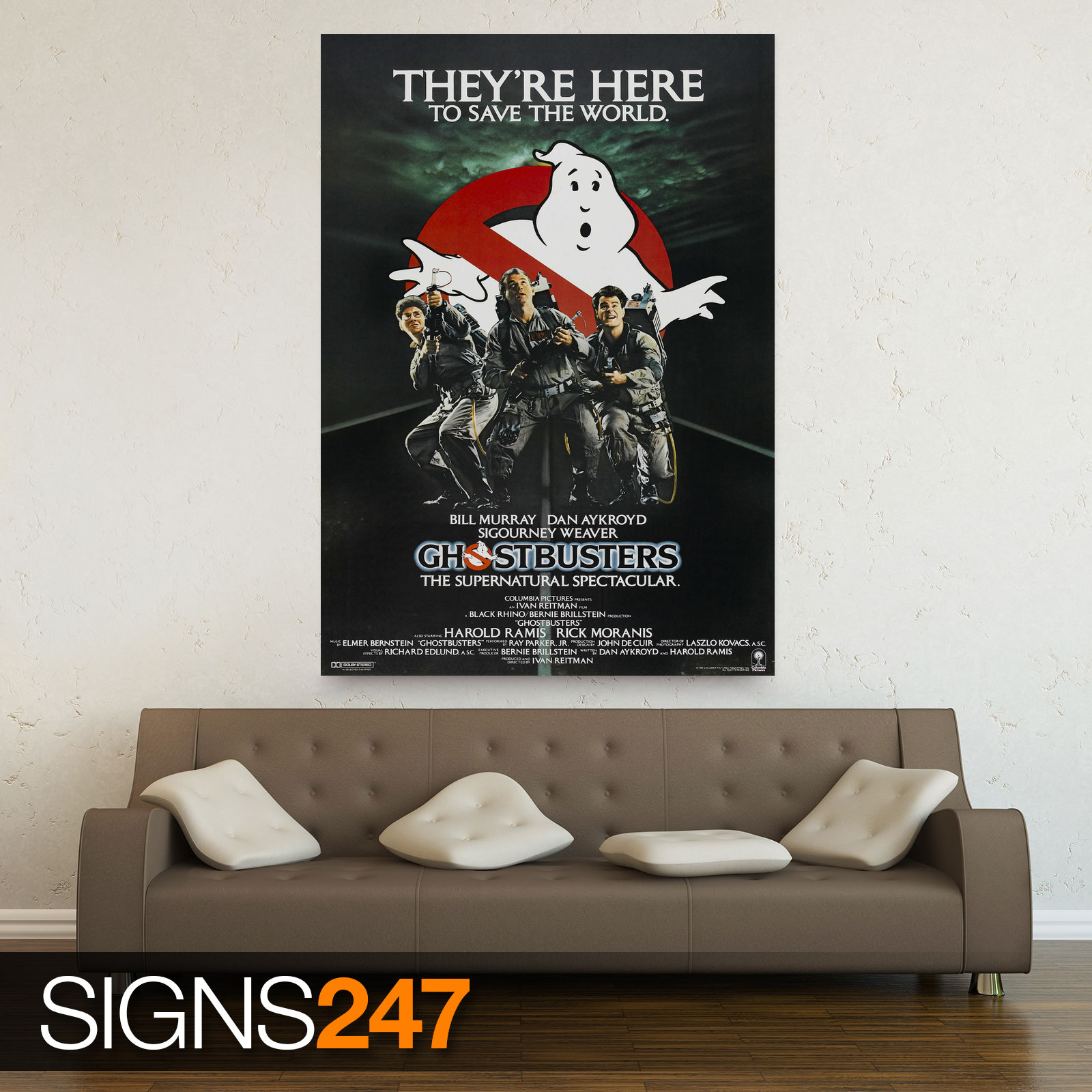 GHOSTBUSTERS-ZZ027-MOVIE-POSTER-Photo-Picture-Poster-Print-Art-A0-to-A4