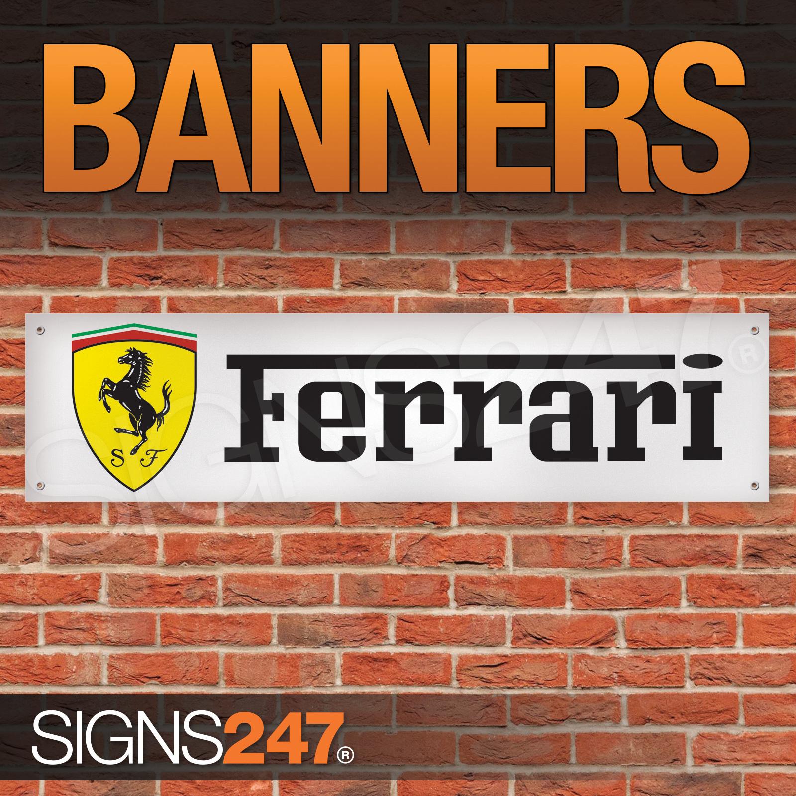 Ferrari sports car stallion logo garage workshop pvc