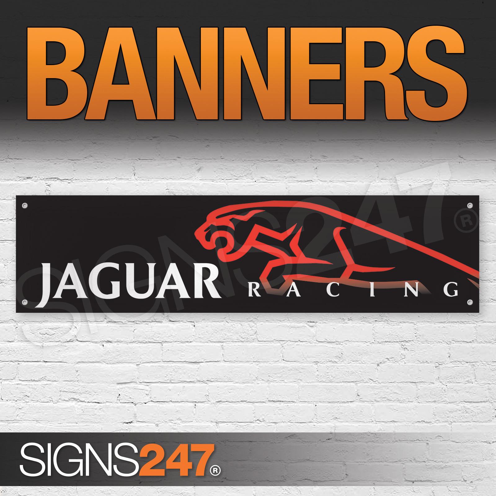 Jaguar Racing Panther Red And Black Garage Workshop Pvc